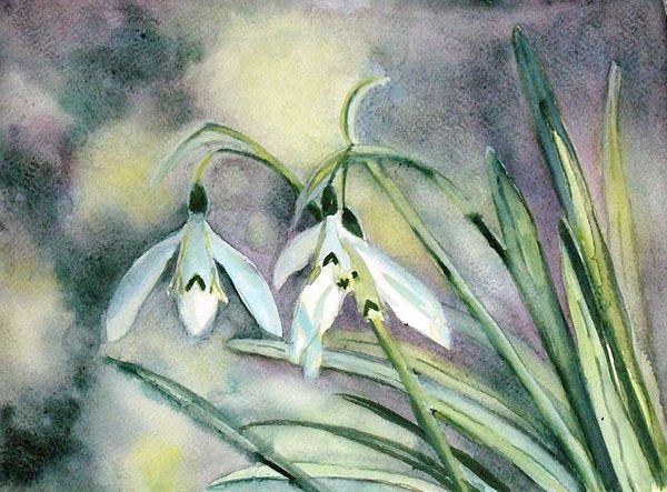 Pierwsze Oznaki Wiosny Aut Monika Plociennik Painting Art Plants