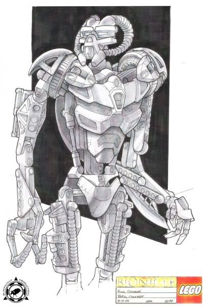 Bionicle 3: Web of Shadows - Sidorak Front View Concept Art ...