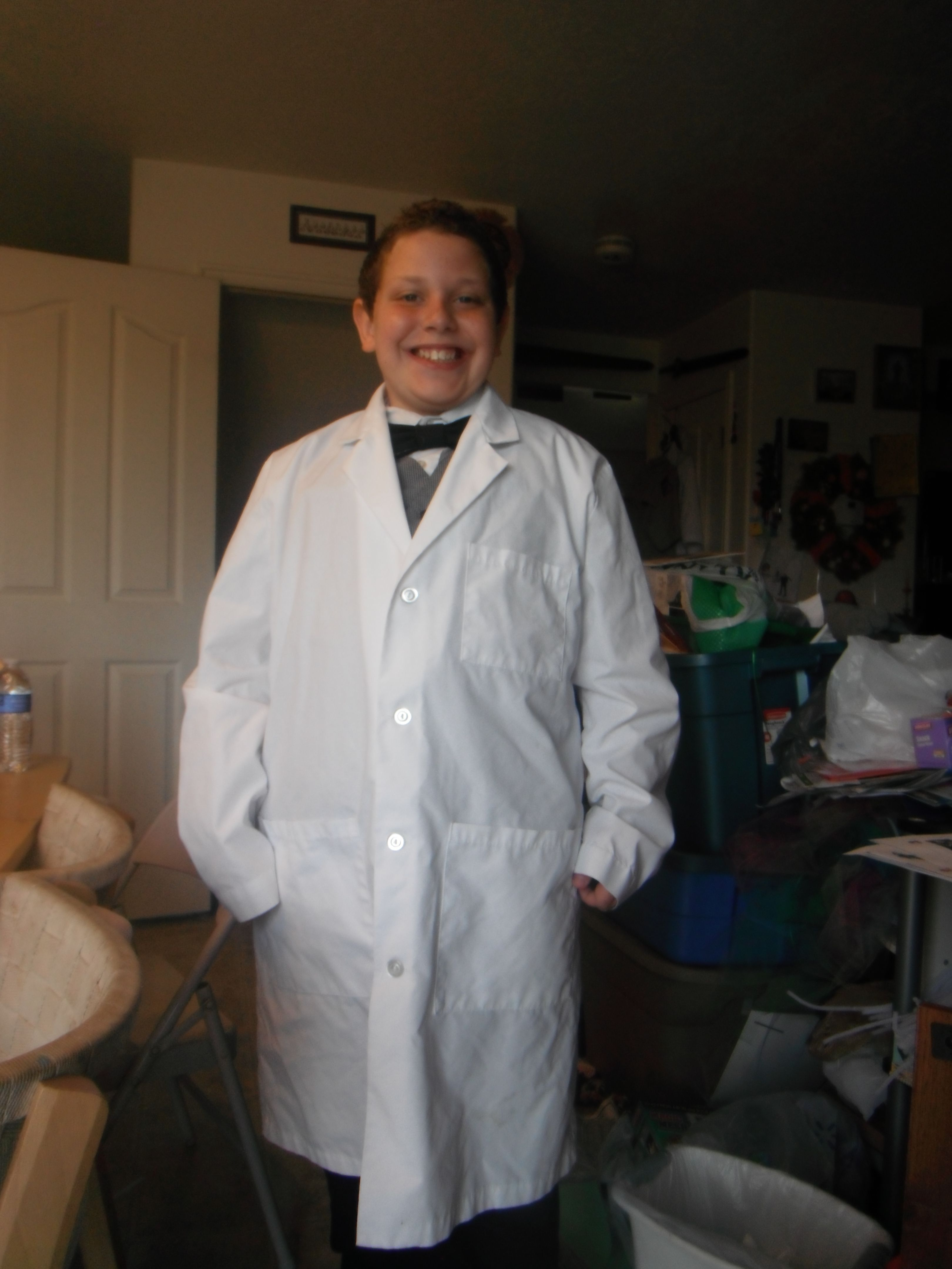 e1fe0827cedb Thomas Edison outfit, lab coat, homemade bow tie, vest & dress pants &  white shirt