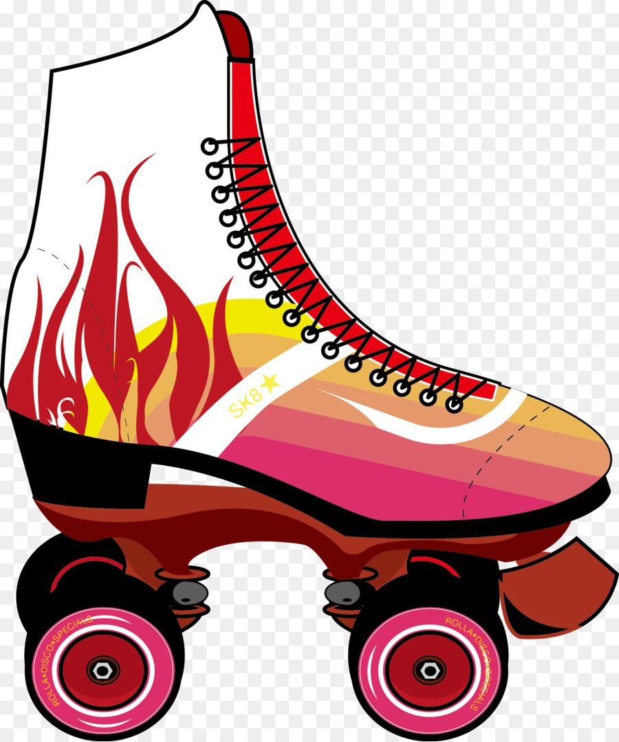 roller rink roller skating skateboard embroidery ideas clip art party  [ 900 x 1080 Pixel ]