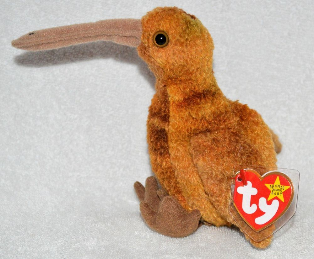TY Beanie Baby Rare  Beak the  KiwiBird Original 1998 Retired MWMT  Protected Tag  Ty 2e6be5b16cd