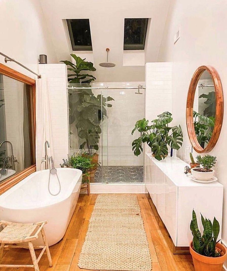 Photo of Salle de bain avec des plantes