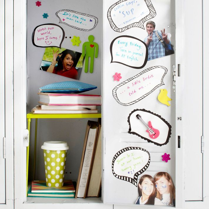 bubble conversation for locker decor 2013 allhomedecorscom 710x710 in 803kb - Locker Designs Ideas
