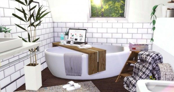 Furniture: Vintage Attic Bathroom from Liney Sims • Sims 4 Downloads ...