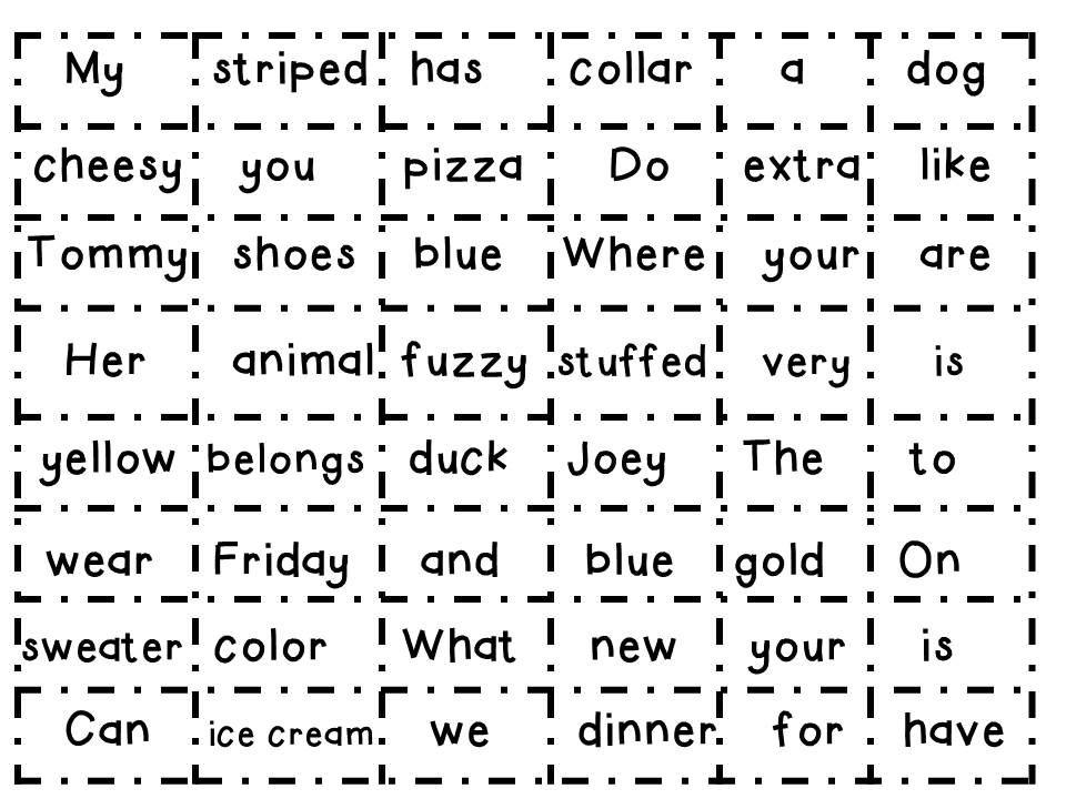 sentence scramble first grade Google Search Term 4 – Sentence Scramble Worksheets