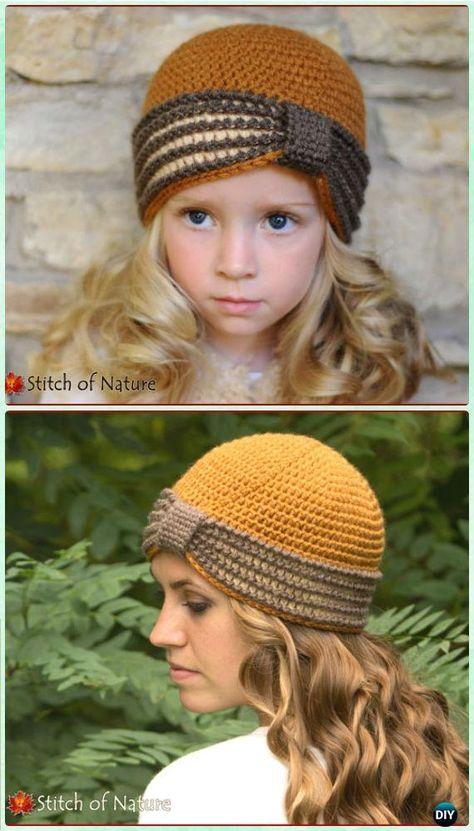 Crochet Turban Hat Free Patterns   Gorros, Ganchillo y Tejido