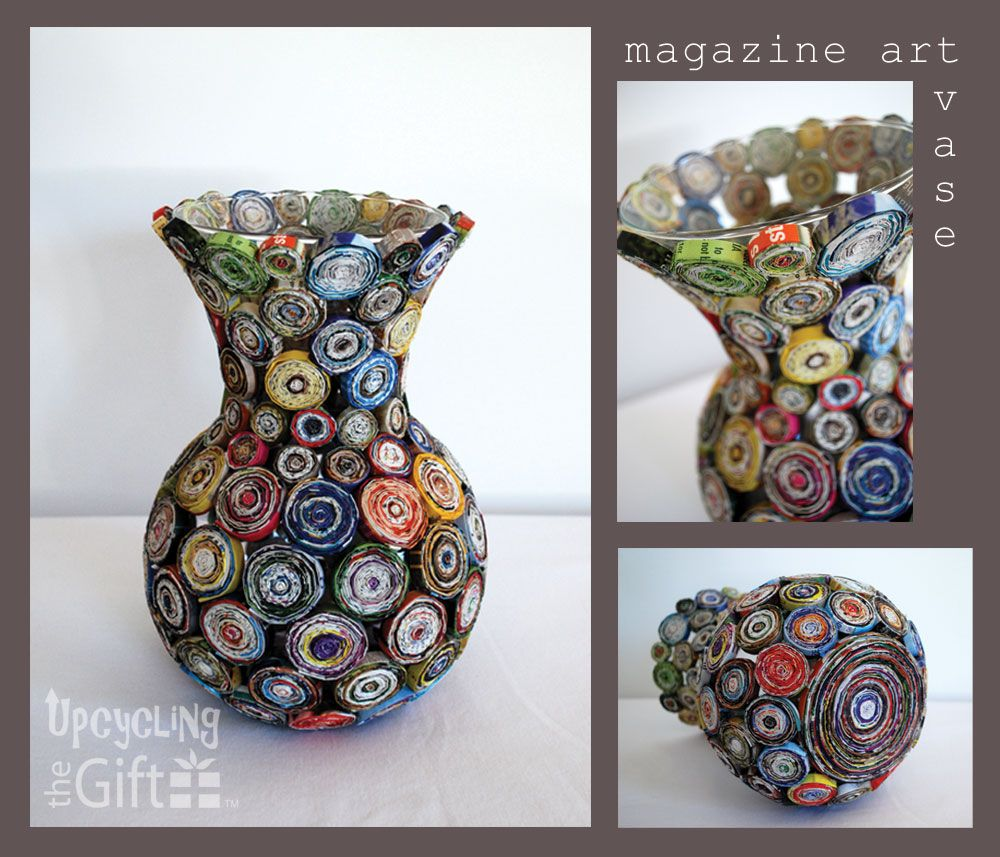 Magazine art vase upcycled magazines and news papers pinterest magazine art vase reviewsmspy