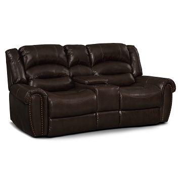 Remarkable American Signature Furniture Galveston Leather Dual Short Links Chair Design For Home Short Linksinfo