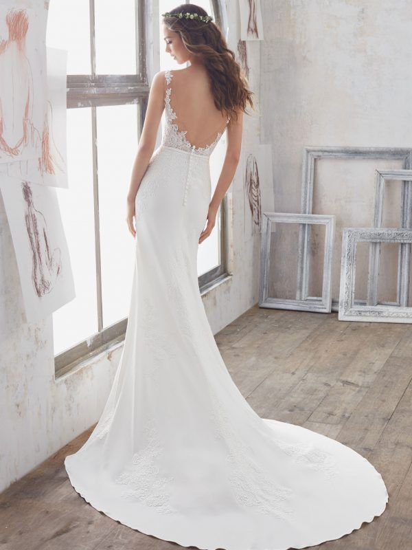 Marisol Wedding Dress | Morilee | Wedding dress necklines, Bridal wedding dresses, Fit, flare