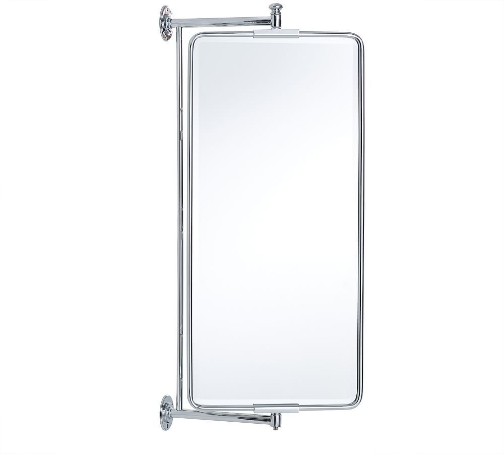 Vintage Rounded Rectangular Swivel Mirror Bathroom Hardware Bathroom Decor Vintage Bathroom