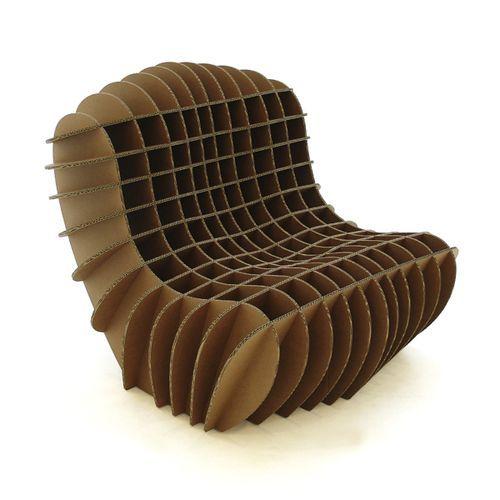 Chaise Longue De Diseno Original De Carton De Interior Para Uso Residencial Davis Graas Bricolages En Carton Chaise En Carton Mobilier En Carton