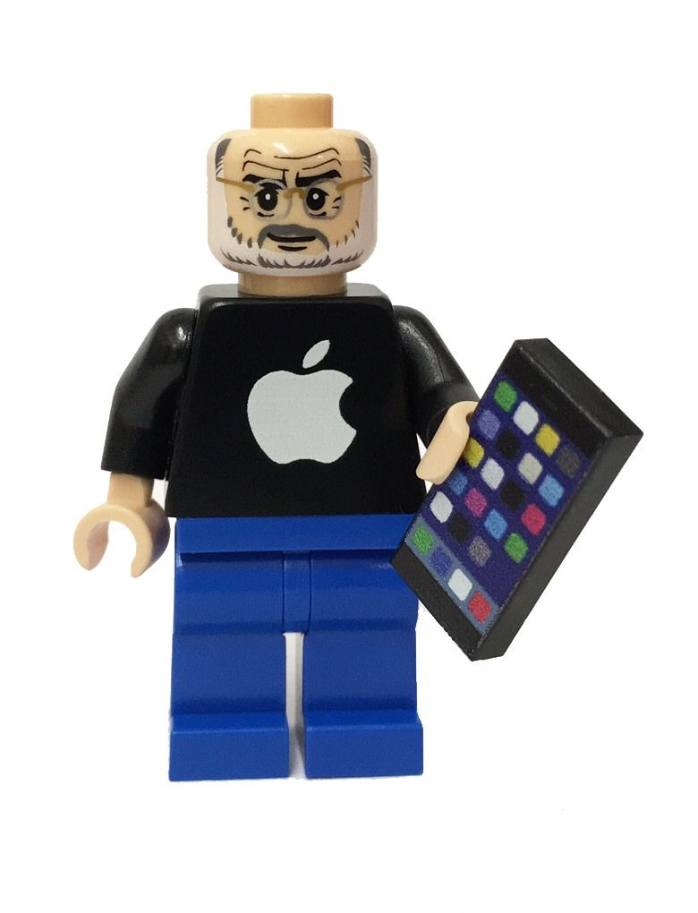 Steve Jobs With His Iphone Custom Lego Minifigure Iphone Apple Lego Minifigure Http Www Flickr Com Photos Bri Lego Minifigures Custom Lego Mini Figures