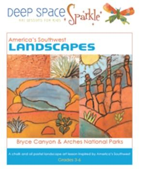 Capture+the+beauty+of+the+American+Southwest+in+these+striking+landscape+art+projects.+Based+on+the+geology+of+Bryce+Canyon+and+Arches+National+Park,+students+understand+key+art+concepts+such+as+space,+perspective,+horizon+line+and+distance.+ Lesson+plan+includes: -Two+Handouts/Coloring+pages+(Bryce+Canyon+and+Arches+National+Park -What+is+a+Hoodoo?