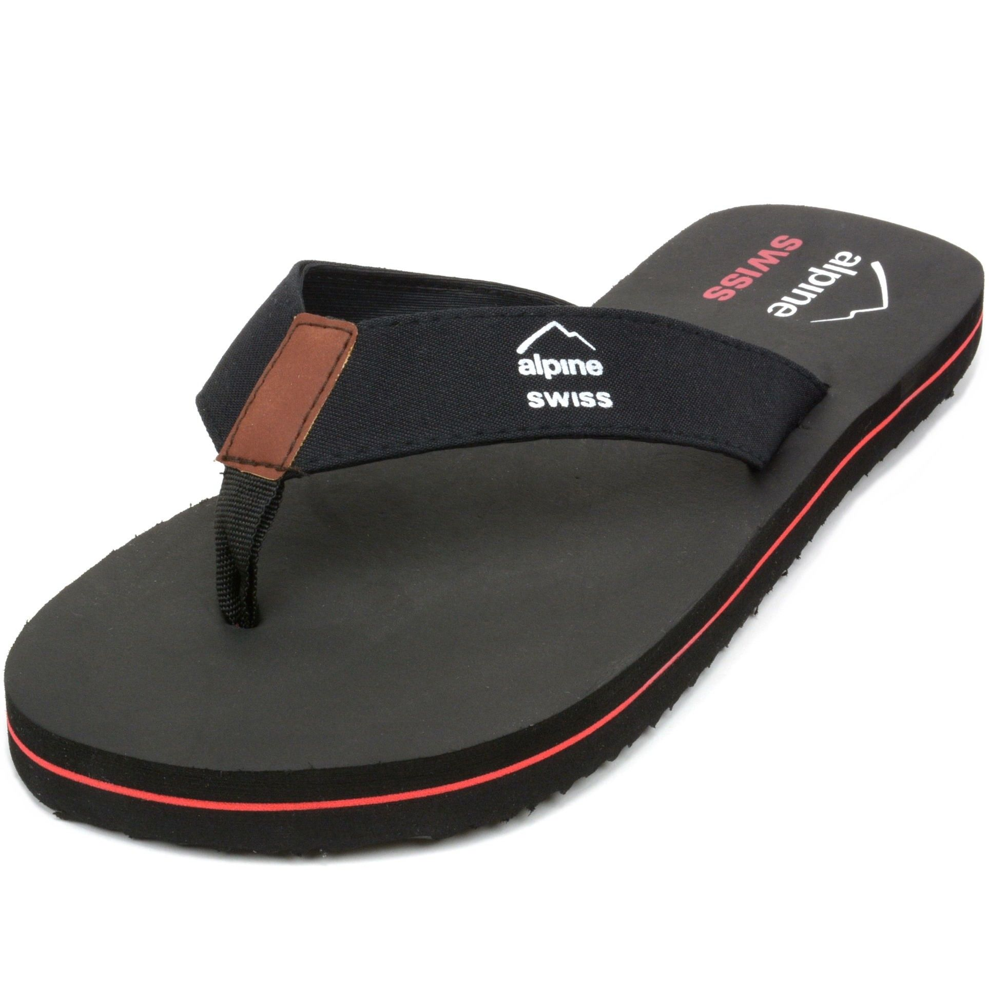 69b08a23a882d4 Alpine Swiss Men s Flip Flops Beach Sandals Lightweight EVA Sole Comfort  Thongs