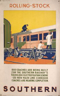 Southern / Vintage Tourism Poster - Rolling Stock