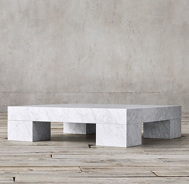Restoration Hardware Marble Coffee Table: Marble Parsons Coffee Table