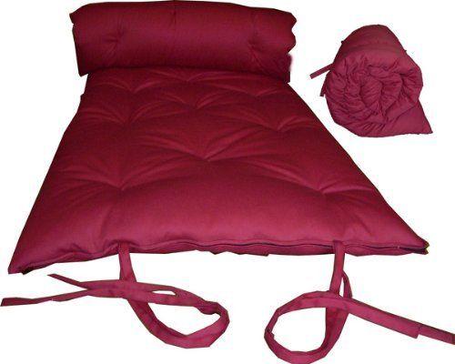 Brand New Red Traditional Japanese Floor Futon Mattresses Foldable Cushion Mats Yoga Meditaion