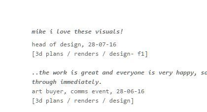 More nice #3d design feedback from my nice #eventprofs clients -