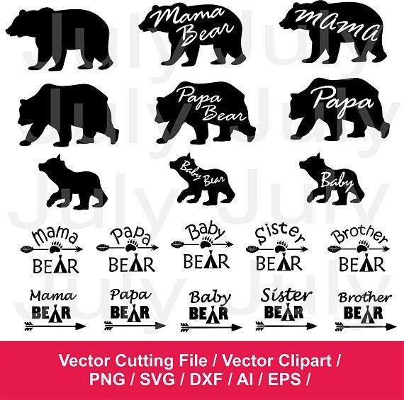 8b4d7bf2 Mama Bear svg, Papa Bear svg, Baby Bear svg, Bear Family svg, Bear ...