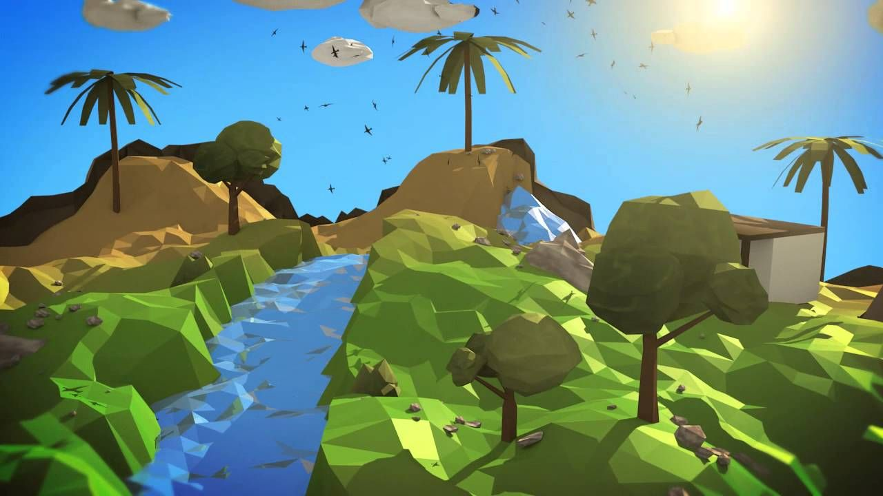 Low poly terrain scene w animal water game inspiration low poly terrain scene w animal water game inspiration pinterest low poly game environment and 3d modeling baditri Choice Image