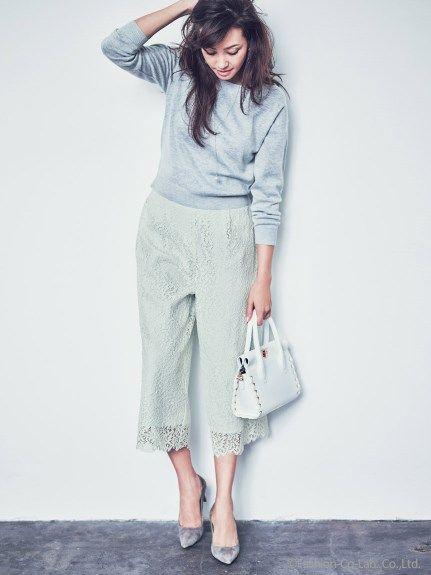 レースガウチョパンツ(ワイドパンツ)|JUSGLITTY(ジャスグリッティー)|ファッションウォーカー