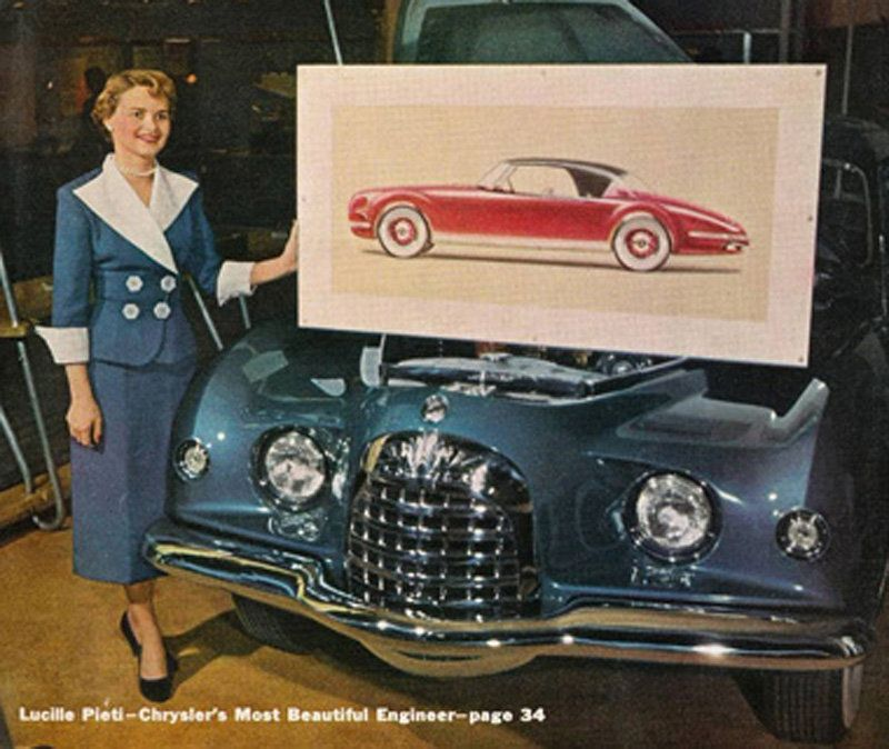 """From Yahoo """"""""Most Beautiful Engineer,"""" and the industry's forgotten sexist history""""   http://autos.yahoo.com/blogs/motoramic/chrysler-most-beautiful-engineer-industry-forgotten-sexist-history-215244753.html"""