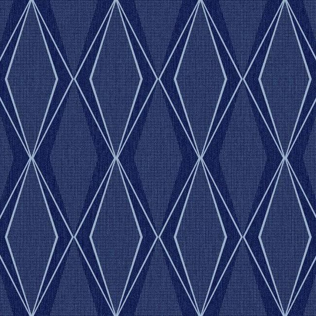 Facet Wallpaper in Midnight Blue design by Stacy Garcia