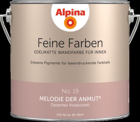 """Alpina Feine Farben No. 19 """"MELODIE DER ANMUT"""" - Dezentes Roséviolett"""