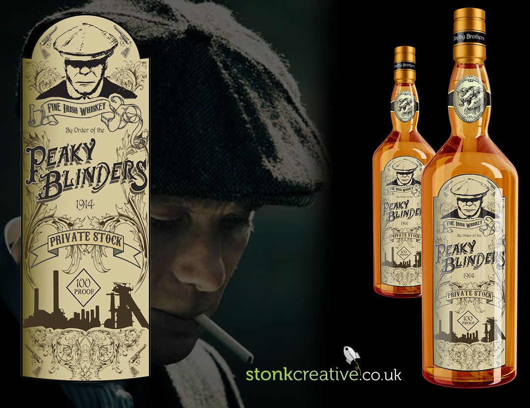 b6b9a531bab A whiskey bottle label I illustrated after being inspired by the tv series Peaky  Blinders.