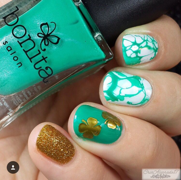 St. Patrick\'s Day mani from @crisalvarado (IG) using our Four Leaf ...