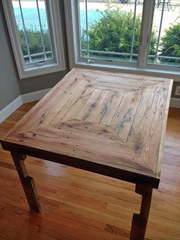 Pallet Wood Dining Table Plan Pallet Furniture DIY HomeMade