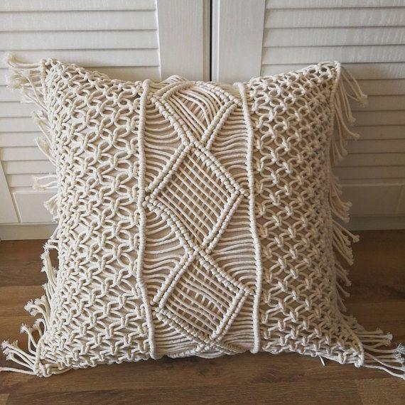 Macrame Pillow Cover Boho Cushion Cover 100 Cotton Wedding Etsy Boho Cushions Wedding Pillow Cover Wedding Pillows