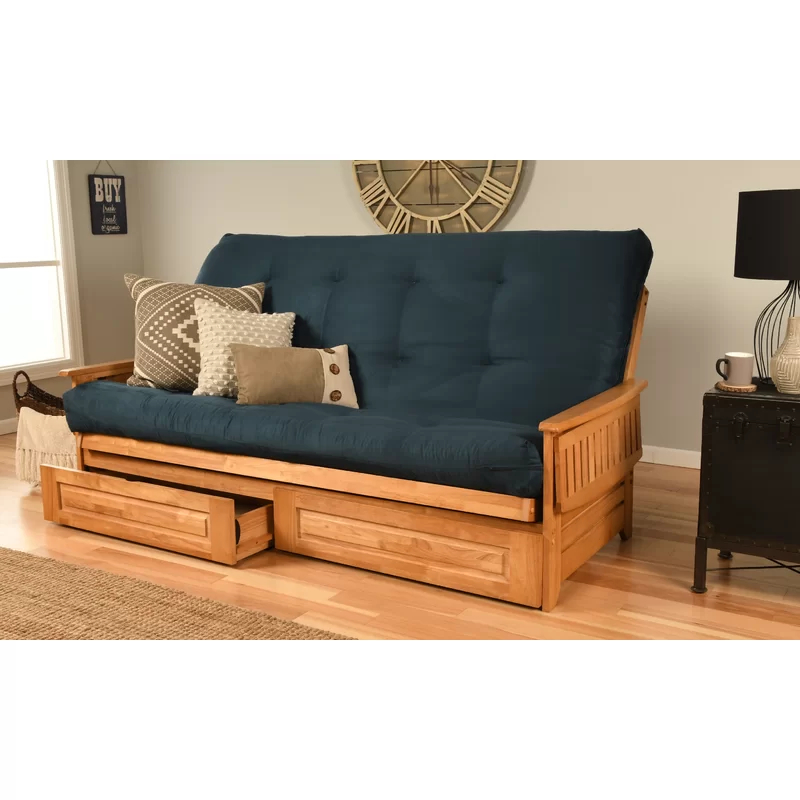"""Merrifield Storage 86"""" Futon and Mattress Queen futon"""
