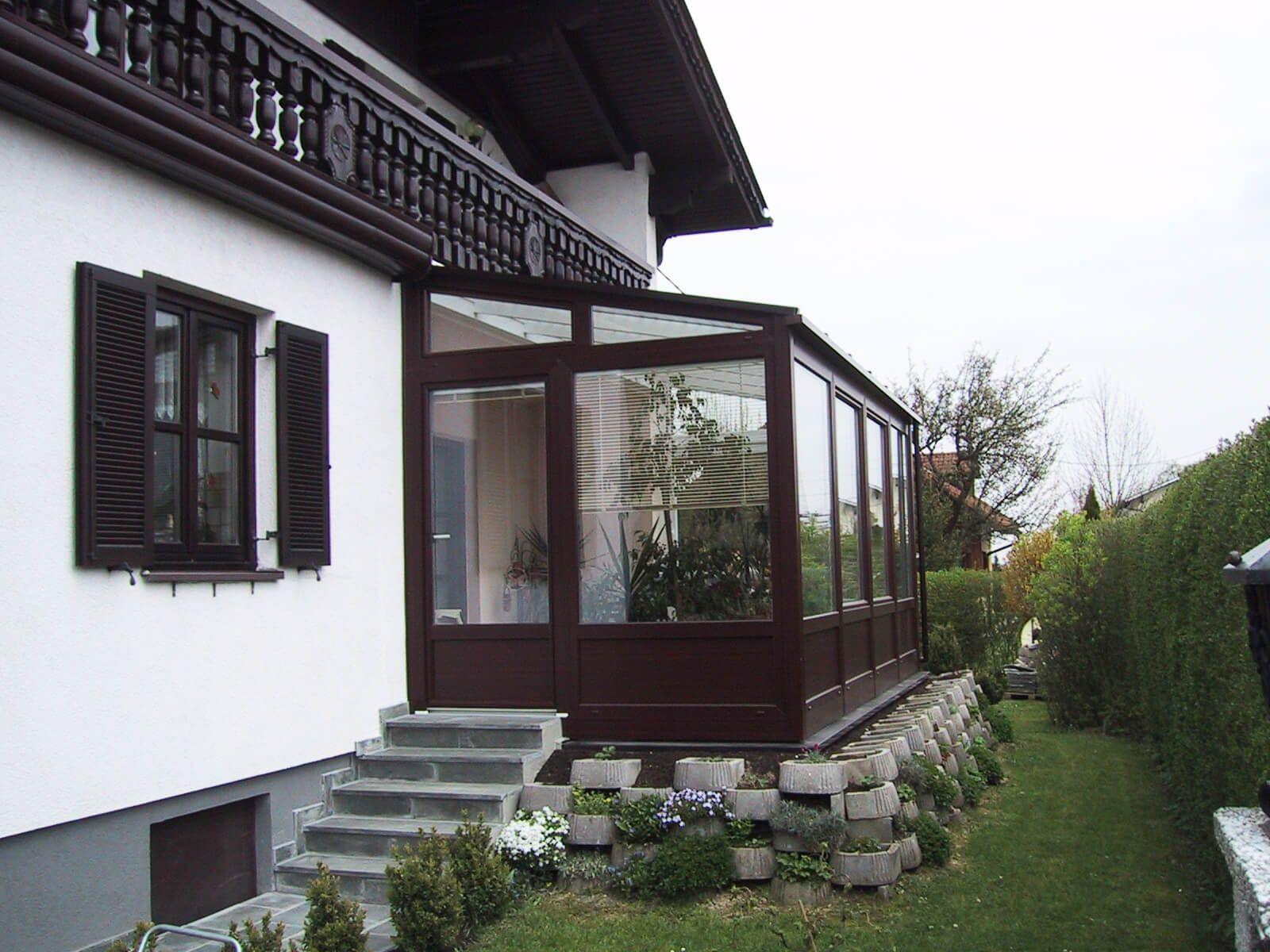 Wintergarten Als Wohnraumerweiterung Mit Jalousien Wintergarten