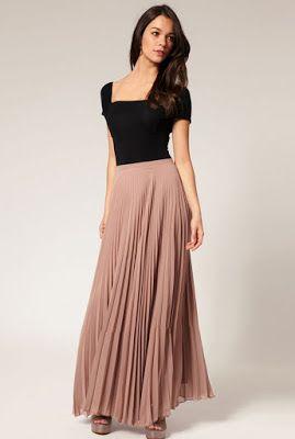 6067f3c87 Faldas largas para chicas 2017 ¡Moda Juvenil! | Trajes de falda ...