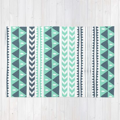 Winter Stripe Rug by Alice Rebecca Potter | Society6