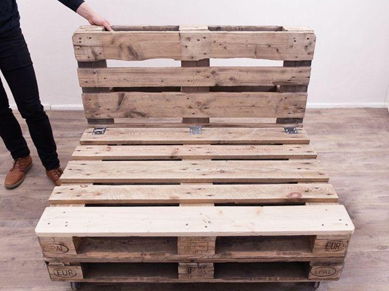 DIY tutorial: Make A Pallet Sofa via DaWanda.com | Palette ...