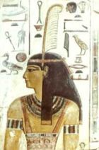 Maat - The feathered head of truth, the guardian of souls.