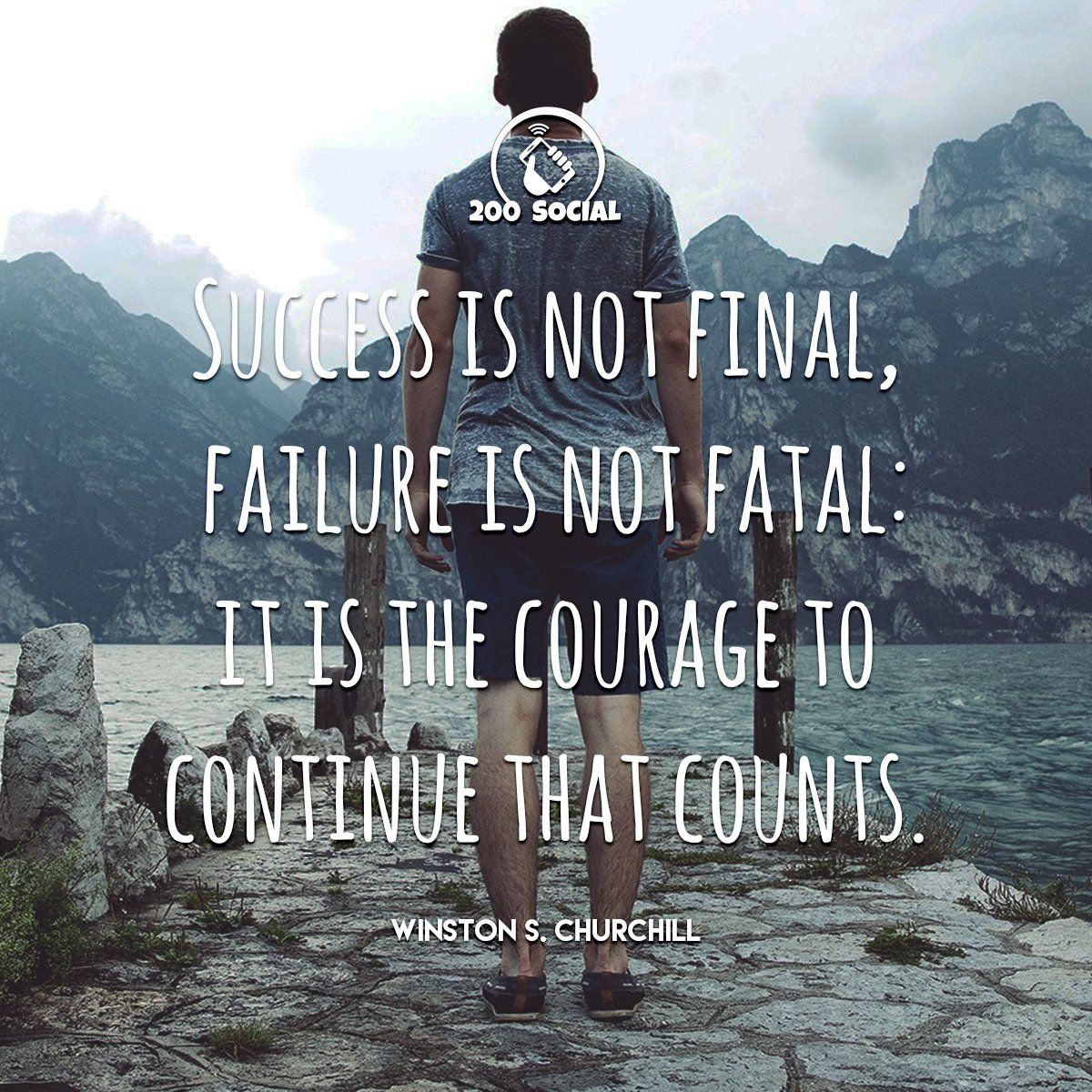 Success Is Not Final Failure Is Not Fatal It Is The Courage To Continue That Counts Motivationalquotes Motiva Success Is Not Final Quote Of The Day Success