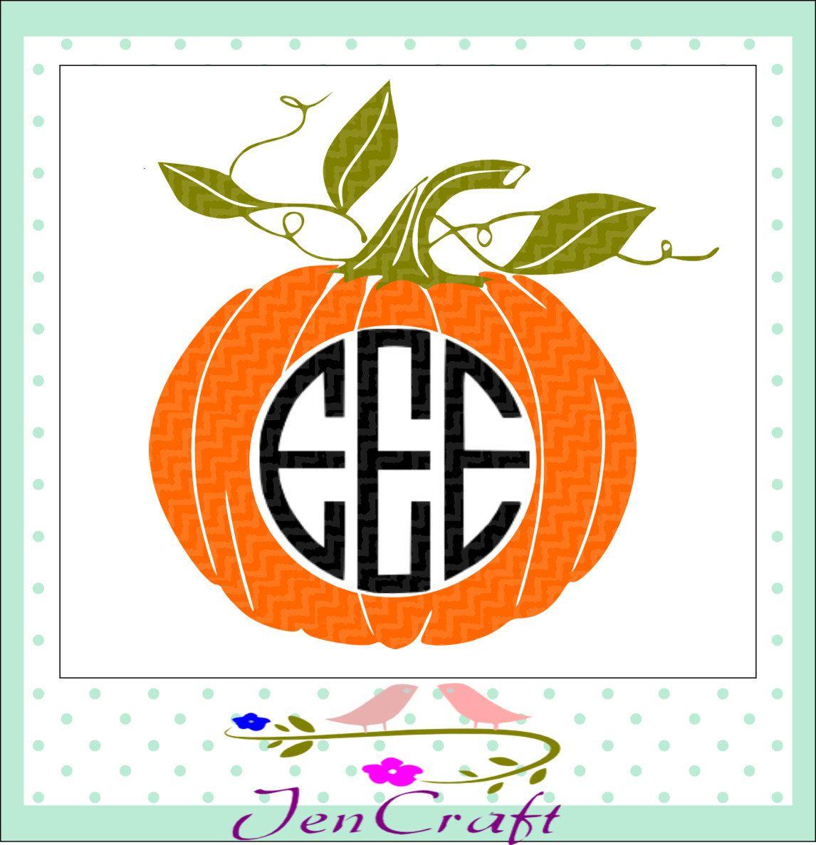Pumpkin Halloween Monogram Frame, Halloween Designs, SVG