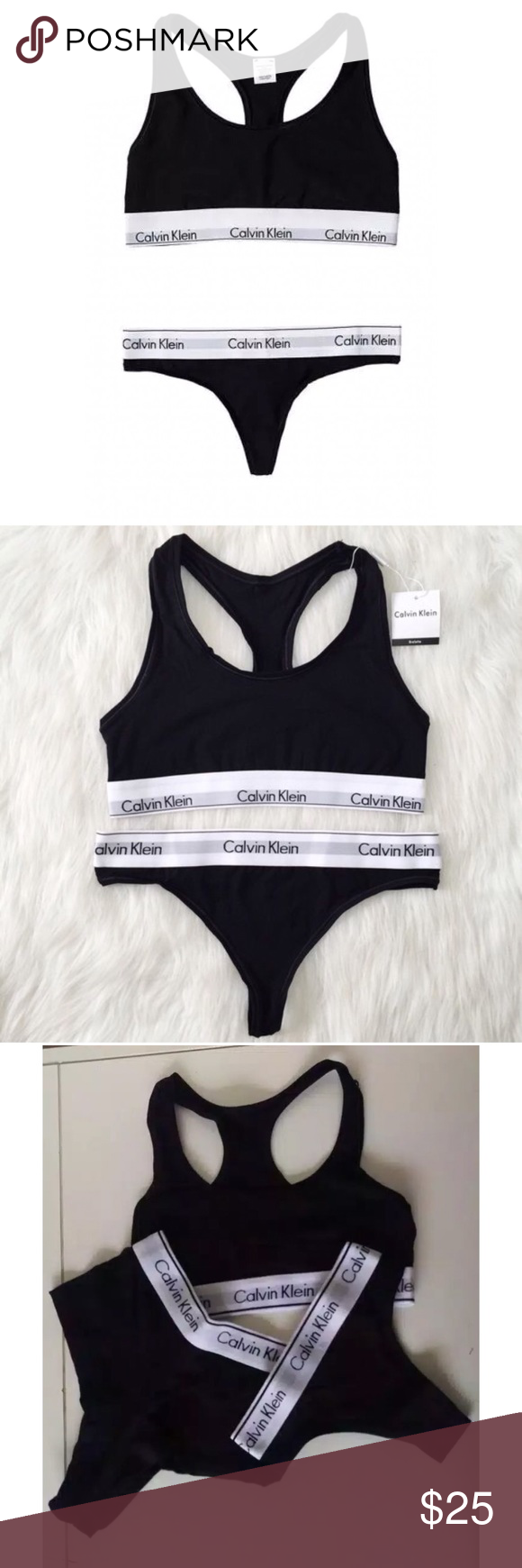 select for latest really cheap factory authentic Calvin Klein Womens Sports Bra Top 3pack Flash sale only for ...