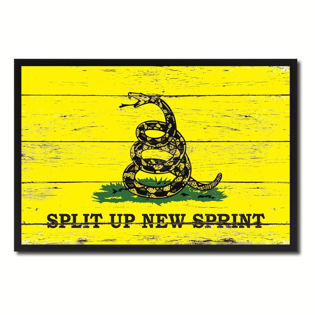 Split up New Sprint Military Flag Vintage Canvas Print with Picture ...