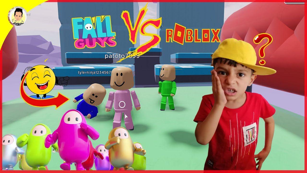 لعبنا العبة الاسطورية فل غايز على روبلوكس Roblox Fall Guys Game Mario Characters Character Roblox