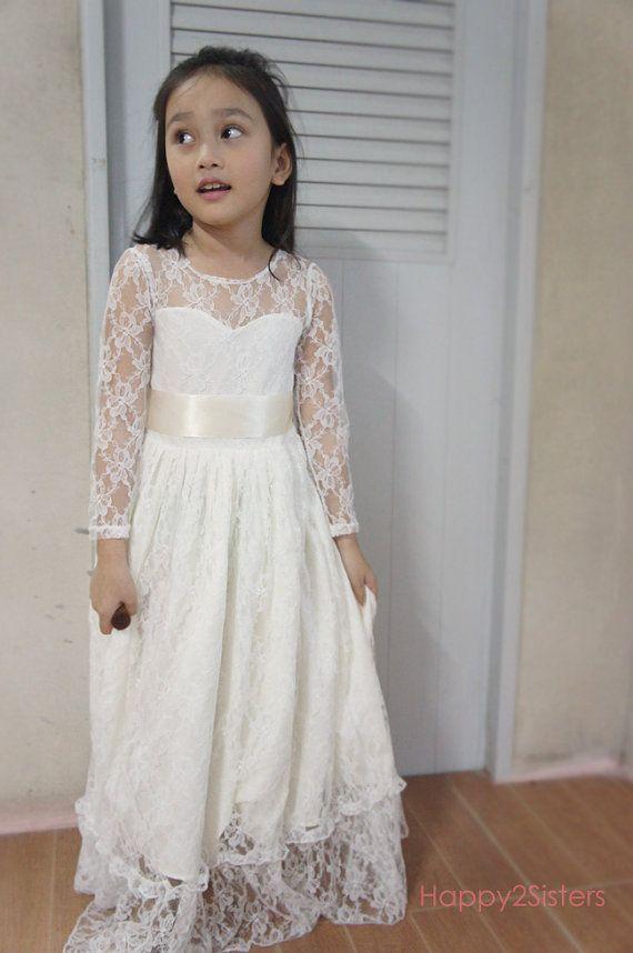 Long dress sleeves girl
