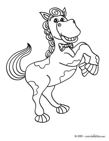 Smiling Horse Coloring Page Cute And Amazing Farm Animals For Kids More
