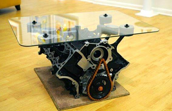 4.6L Mustang Engine Table by Gregs Garage  Browns Mills, New Jersey  http://www.custommade.com/by... pinned with Pinvolve