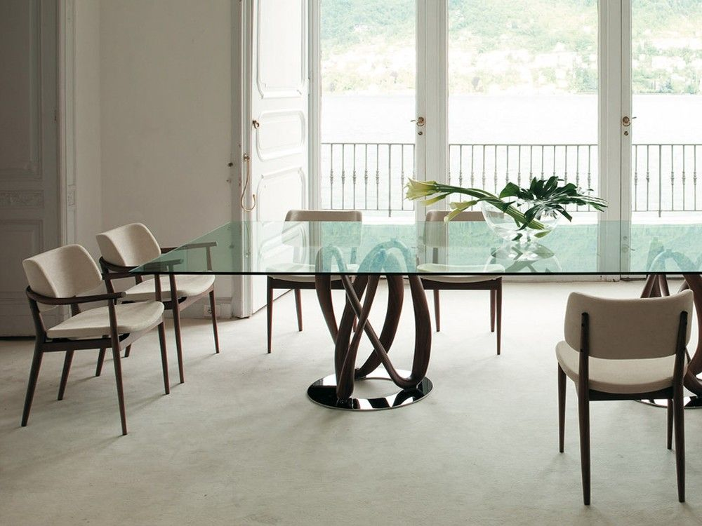 Wonderful Porada Infinity Rectangular Glass Dining Table By S. Bigi   Chaplins