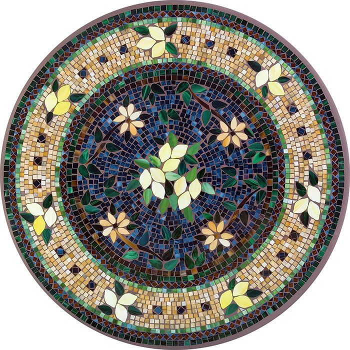 """Table Mosaic Patterns: """"Tuscan Lemons"""" 42"""" Table By Neille Olson Mosaics."""