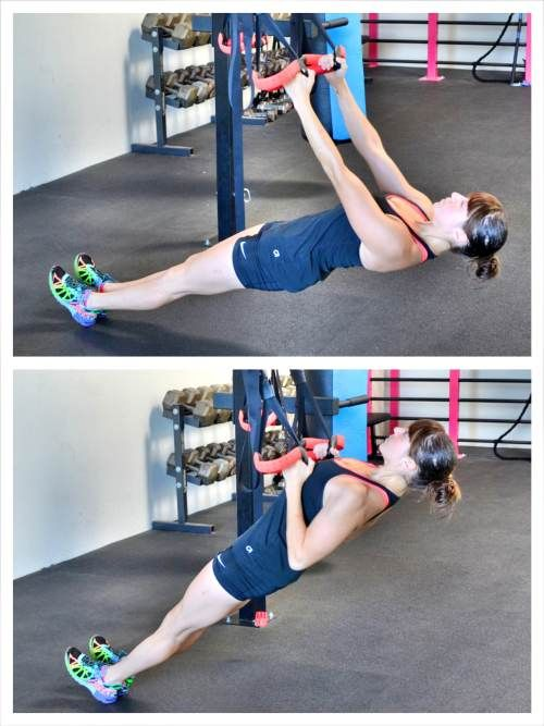 inverted-row | Workout, Trx workouts, Fitness body