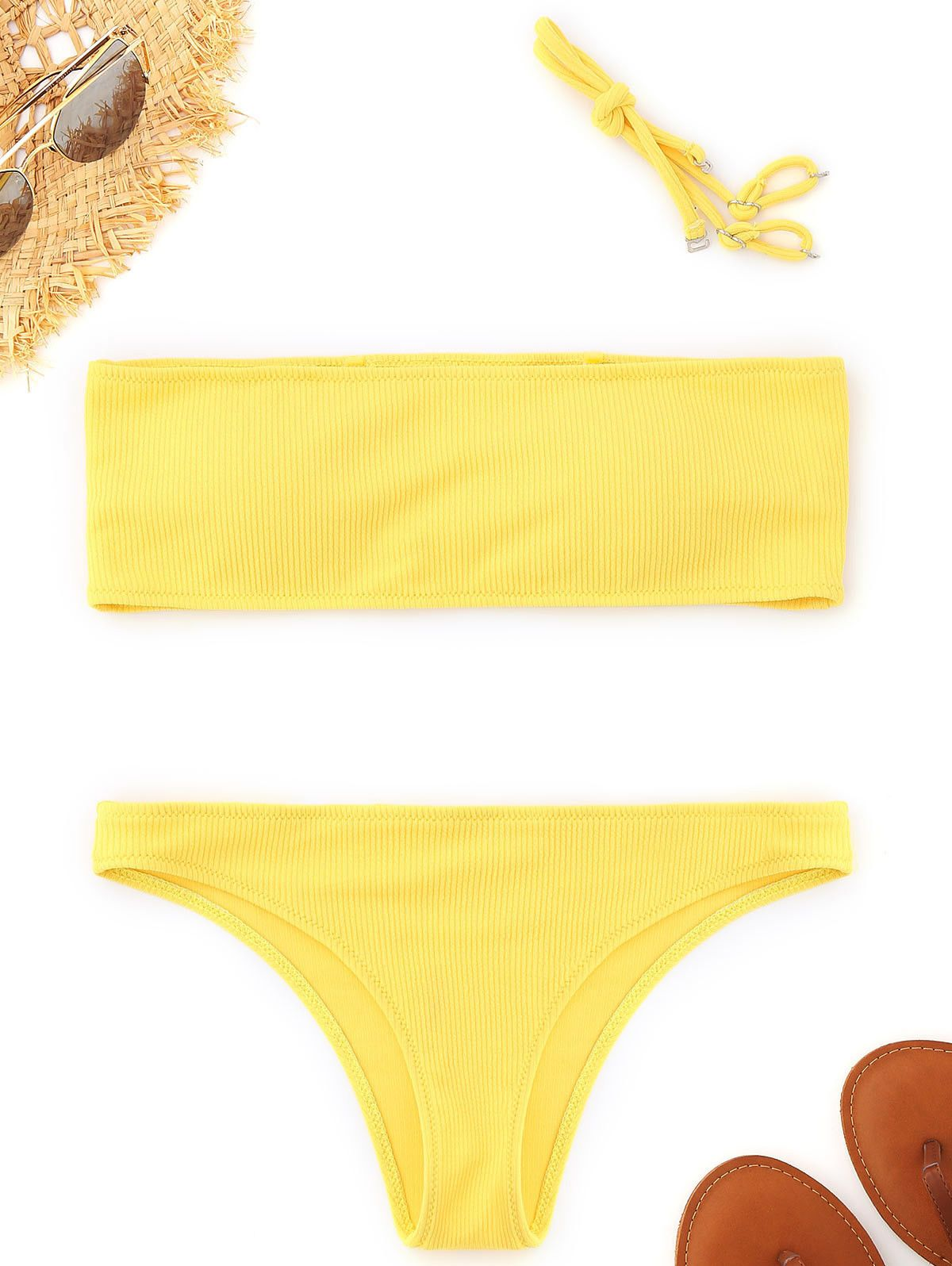 8c9fbc2cf9  8.99 - Women Swimsuit Swimwear Push Up Halter Bandeau Ribbed Bikini Set   ebay  Fashion